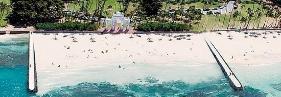 A rendering of what the beach could be. Image from the City & County of Honolulu.
